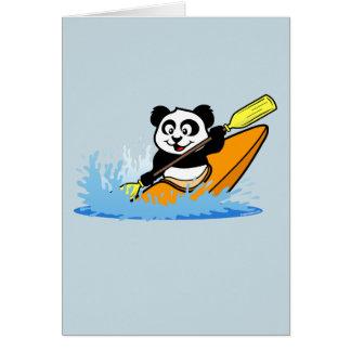 Kayaking Panda Card