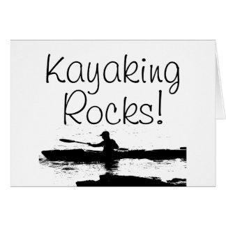 Kayaking Rocks! Card