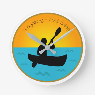 Kayaking Soul Rising Round Clock