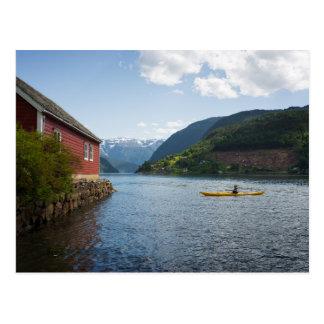 Kayaking the Hardangerfjord in Norway Postcard