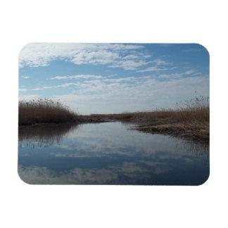 Kayaking Through TheMarsh Rectangular Photo Magnet