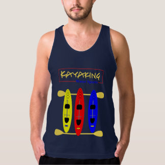Kayaking Water Sports Themed Graphic Tank Top