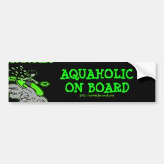 Kayaking Whitewater Silhouette Bumper Sticker