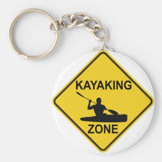 Kayaking Zone Basic Round Button Keychain