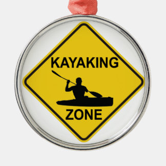 Kayaking Zone Metal Ornament