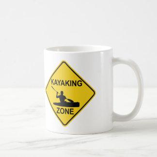 Kayaking Zone Road Sign Coffee Mug