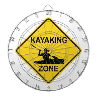 Kayaking Zone Road Sign Dartboard