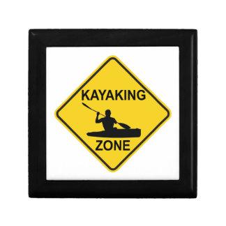 Kayaking Zone Road Sign Gift Box