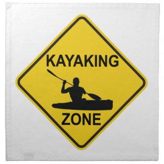 Kayaking Zone Road Sign Napkin