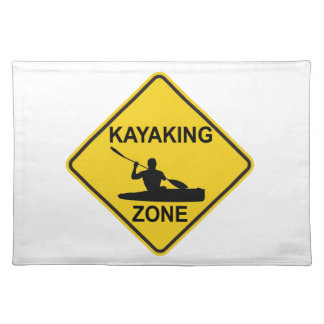 Kayaking Zone Road Sign Placemat