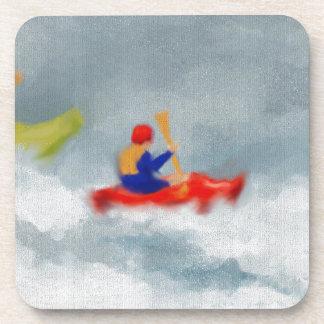 Kayaks Art Drink Coasters
