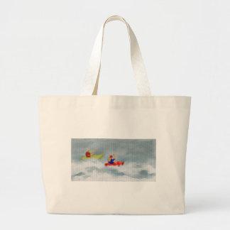 Kayaks Art Large Tote Bag