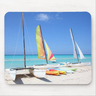 Kayaks, Catamarans And Kayaks| Cuban Beach Mouse Pad