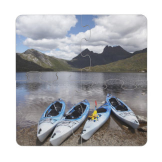 Kayaks, Cradle Mountain and Dove Lake, Cradle Drink Coaster Puzzle