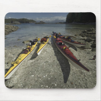 Kayaks on Dicebox Island, Broken Island Group, Mouse Pad