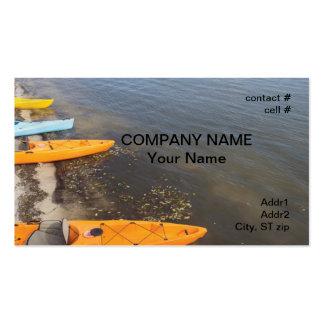 kayaks on Florida bay Business Card