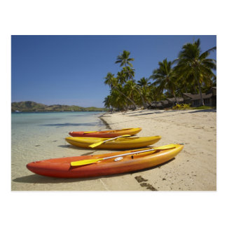 Kayaks on the beach, Plantation Island Resort Postcard