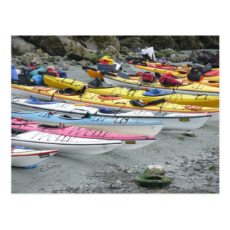 Kayaks On The Beach Postcard