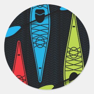 Kayaks RBG Classic Round Sticker