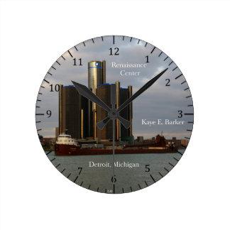 Kaye E. Barker Detroit colck Round Clock