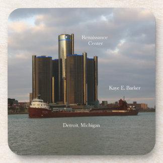 Kaye E. Barker Detroit set of 6 plastic coasters