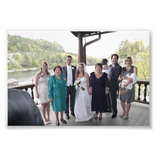 KAYE-HOLDEN WEDDING: LAURIE & KAYE FAMILY PHOTO PRINT