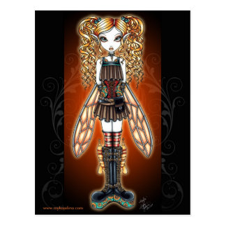 """Kayla"" Steampunk Fairy Postcard"