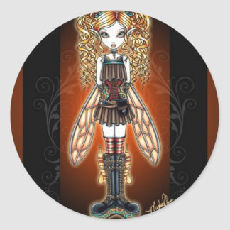 """Kayla"" Steampunk Fairy Stickers"