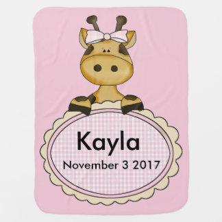 Kayla's Personalized Giraffe Baby Blanket