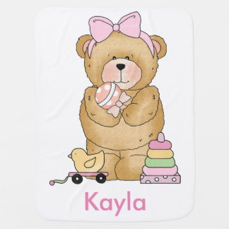 Kayla's Teddy Bear Personalized Gifts Baby Blanket