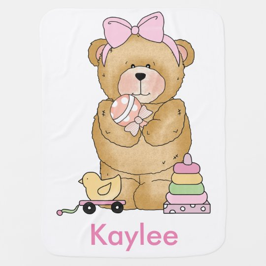 Kaylee's Teddy Bear Personalized Gifts Baby Blanket