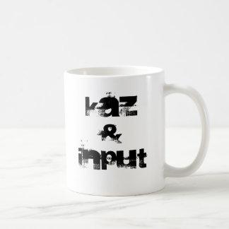 Kaz & input basic white mug