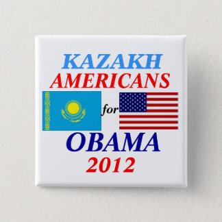 Kazakh americans for Obama 2 Inch Square Button