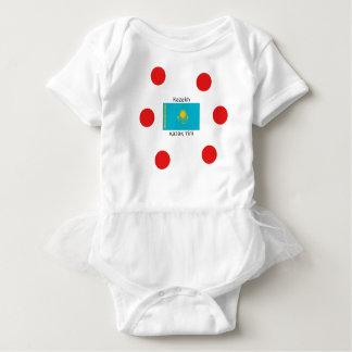 Kazakh Language And Kazakhstan Flag Design Baby Bodysuit