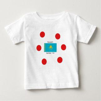 Kazakh Language And Kazakhstan Flag Design Baby T-Shirt