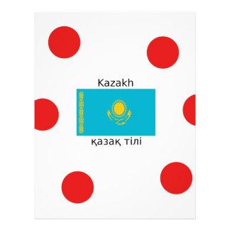 Kazakh Language And Kazakhstan Flag Design Letterhead
