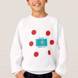 Kazakh Language And Kazakhstan Flag Design Sweatshirt