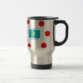 Kazakh Language And Kazakhstan Flag Design Travel Mug