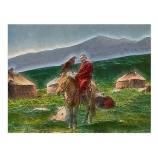 Kazakh man postcard
