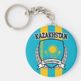 Kazakhstan Basic Round Button Keychain