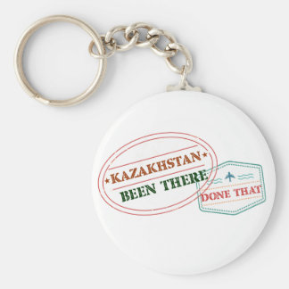 Kazakhstan Been There Done That Basic Round Button Keychain