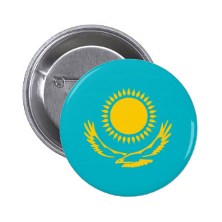 Kazakhstan country long flag nation symbol republi 2 inch round button