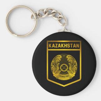 Kazakhstan Emblem Basic Round Button Keychain
