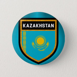 Kazakhstan Flag 2 Inch Round Button