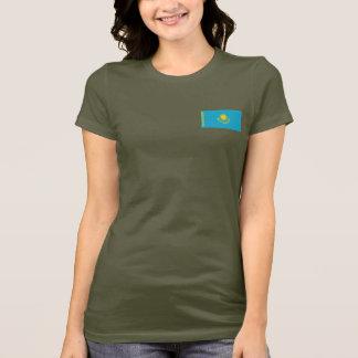 Kazakhstan Flag and Map dk T-Shirt