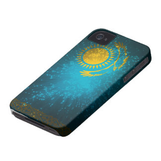Kazakhstan Flag Firework iPhone 4 Cover