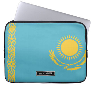 Kazakhstan Flag Laptop Sleeve