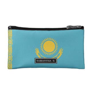 Kazakhstan Flag Makeup Bags