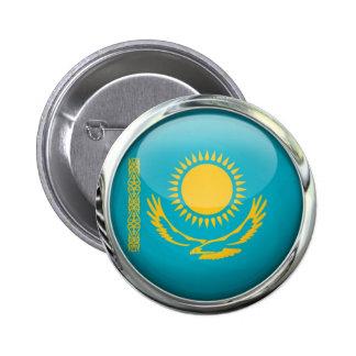 Kazakhstan Flag Round Glass Ball 2 Inch Round Button
