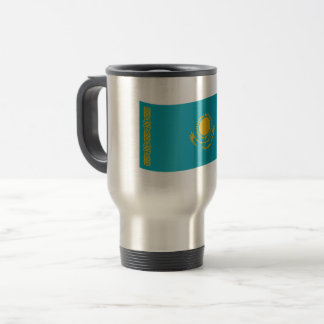 Kazakhstan Flag Travel Mug